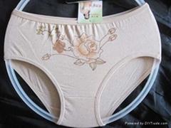 彩棉女式内裤