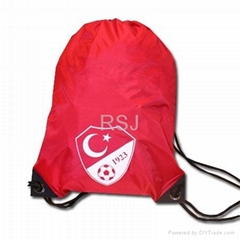 Drawstring backpack, heat transfer printing
