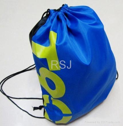 尼龙束口袋,学生背袋,广告袋 3
