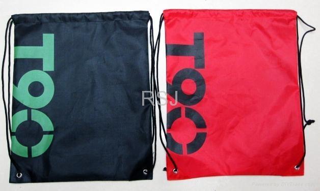 尼龙束口袋,学生背袋,广告袋 4