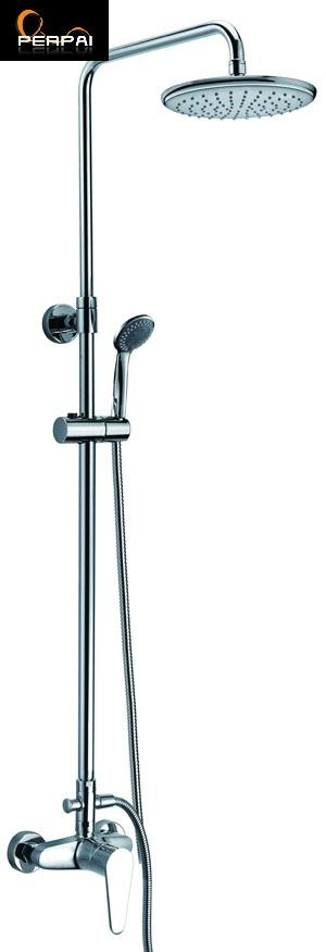 NEW Luxury Wall Mounted Bathroom Rain Shower Faucet Set 1