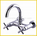 New Style two handle chromed basin mixer