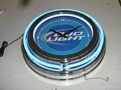 neon clock for promotion