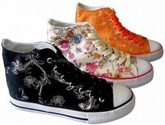 Women's Mid-Cut Rubber Canvas Shoes - G3001