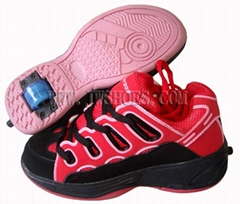 One Wheel Retractable Roller Shoes (JW5052)