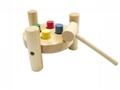 wooden punching peg