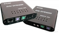 鼠标键盘显示器(KVM)延长器KVME50L/R50米 1