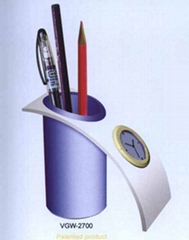 Pen Holder with Clock/ Promotion Gift/ Office's Stationery