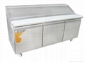 3 doors 400L Salad table|Salad working table|salad cabinet
