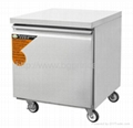 1 doors 160L cooling working table with cart