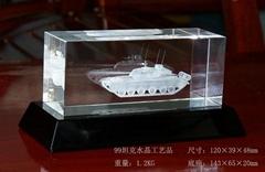 99坦克水晶工艺品