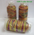 209 FIVE-COLOR SEWING THREAD