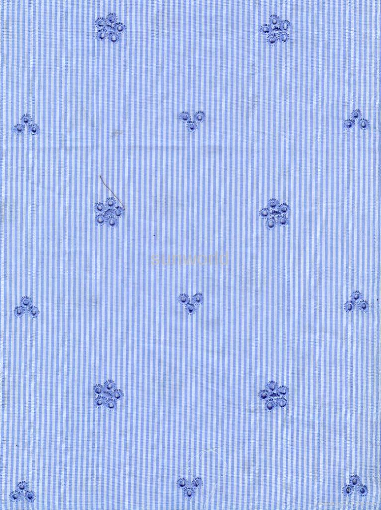 cotton yarn dyed embroidery 1