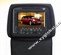 car headrest DVD player with zipper/USB/SD/MP4/Games/IR&FM transmitter(XY-2835D)