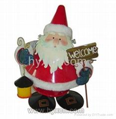 Bouncing Santa taking a lamp