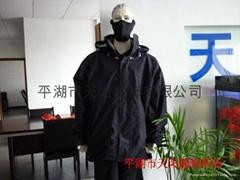 压胶服装加工,热风贴条服装,防水服装加工