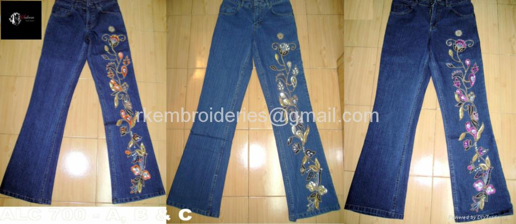 Ladies Embellished jeans - 700 (India Manufacturer) - Jeans