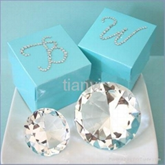 crystal diamond of wedding with gift packing