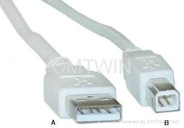 USB 2.0 Cable With One A-Type Connection And One B-Type 1