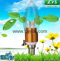 LYS-Q-Q-J 3W China LED Candle Bulb lighting Droplight Lamp