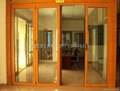 Wood Finish Aluminum Bi Fold Door