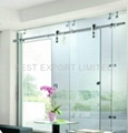 Frameless Sliding Glass Door with Stainless Steel hardware