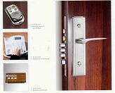 遥控电动防盗门锁