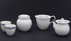 仿青花八件茶葉缸組