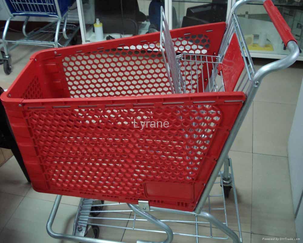 plastic shopping trolley 1