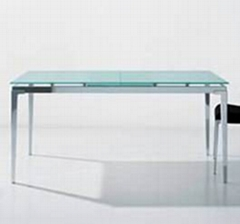 Dining glass table