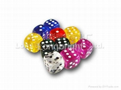transparence dice, gift dice, domino, chips