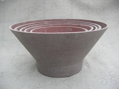 flower pot is made of stone powder with resin