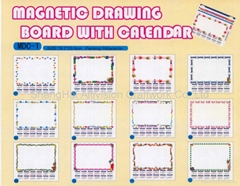 Magnetic Drawing Board With Calendar