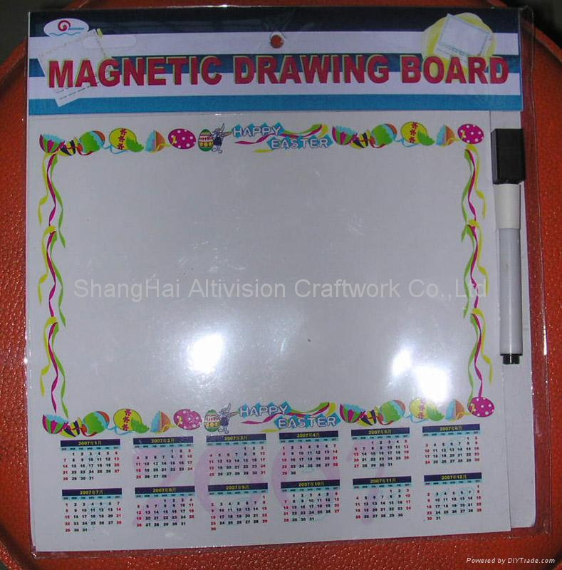Magnetic Drawing Board With Calendar 3