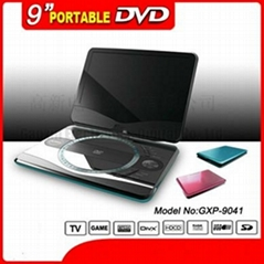 9 inch portable DVD player with L.C.D. TV.