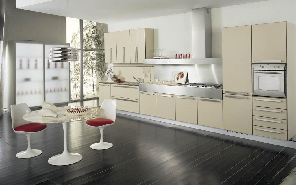 The latest style kitchen cabinets defuro china for Latest kitchen furniture design