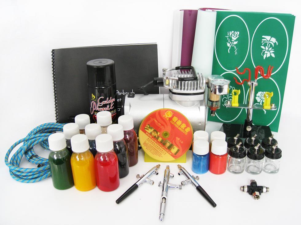 Airbrush tattoo kit golden phoenix china manufacturer for Temporary tattoo kit online