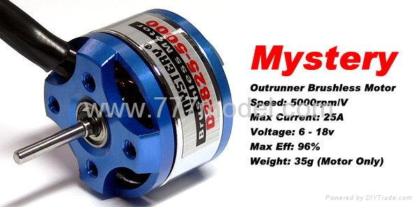Mystery rc hobby 5000 rpm v outrunner brushless motor for Toy helicopter motor rpm