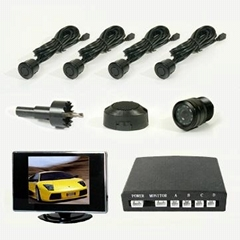 Video car rear view system with parking sensor