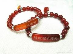 玛瑙佛珠手链