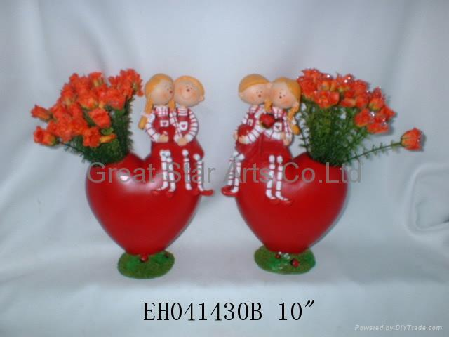polyresin valentine girl and
