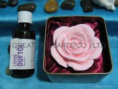 EH01111 Ceramic flower oil diffuser