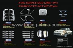Chrome trim set for Toyota Hilux Vigo