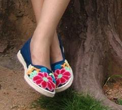 割花鞋/绣花鞋/手工布鞋--- 南瓜3