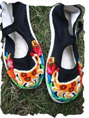 割花鞋/绣花鞋/手工布鞋--- 梅花鹿