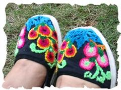 割花鞋/绣花鞋/手工布鞋--- 葡萄