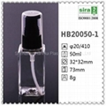 100ml pet塑胶瓶子方形化妆品包装喷雾香水瓶子 3