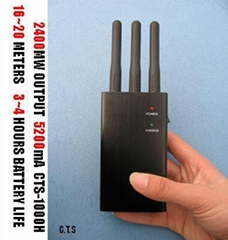 Handheld Quad band & 3G Cell Phone Jammer For worldwide use on all networks