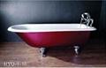 cast-iron bathtub