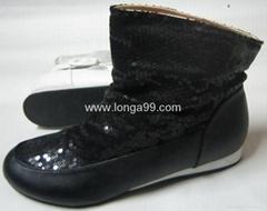 庫存女式中筒靴子